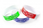 Coil Pattern tyvek wristbands