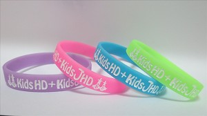 Silicone wristbands with custom message