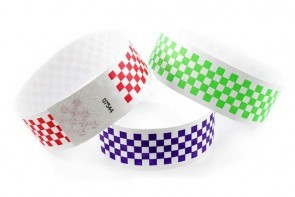 Checkerboard Pattern Tyvek Wristbands
