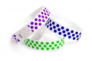Polka Dot pattern tyvek wristbands