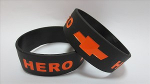 One Inch wide Silicone Wristbands